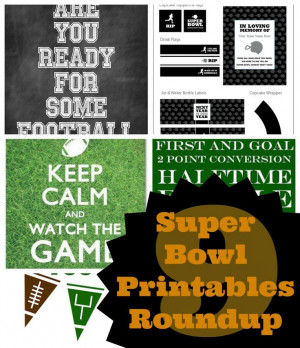 Are You Ready For Some Football? Game Day Printables Round Up