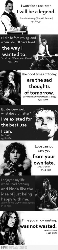 Some awesome rock quotes