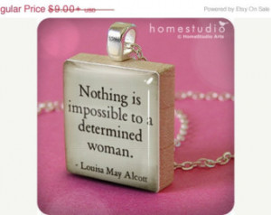 ON SALE - Alcott Quote (Woman) : pe ndant jewelry from a Scrabble tile ...