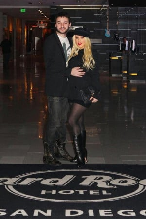 Christina Aguilera and Matthew Rutler visit Hard Rock Hotel San Diego ...