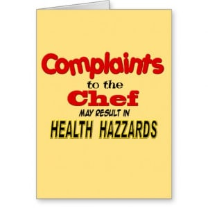 Funny Chef Sayings Funny chef greeting cards