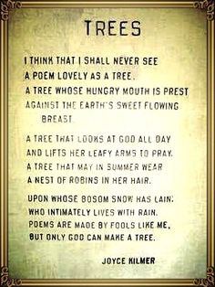 ... nature poems god poems god nature quotes joyce kilmer trees quotes