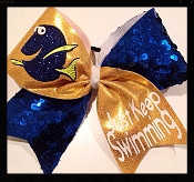 Dory - Just Keep Swimming Cheer Bow
