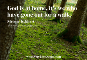 home quotes, God is at home