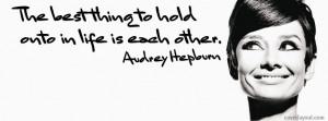Audrey Hepburn Best Quote Facebook Cover