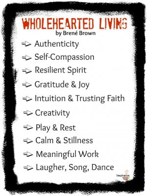 If you haven't read Brene Brown's book, Daring Greatly, here's her ...
