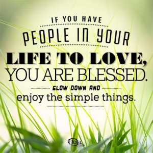 it s the simple things in life joel osteen quotes