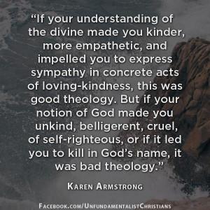 Karen Armstrong on Bad Theology