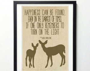 Harry Potter Quote & Deer Wall Art 8x10 Print // Tan and Brown ...