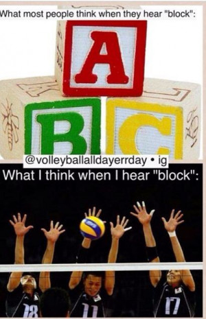 Volleyball quotes. I'm able to block with my elbows above the net ...