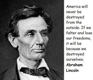 house divided cannot stand….. Abraham Lincoln 1857