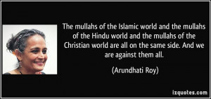 The mullahs of the Islamic world and the mullahs of the Hindu world ...