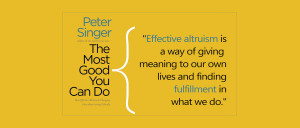 Peter Singer, The Most Good You Can Do