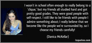 wasn't in school often enough to really belong to a 'clique,' but my ...