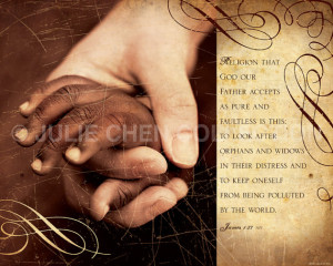 Adoption Gift - Adoption Art - James 1 - PURE RELIGION