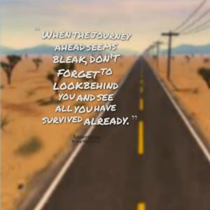 Quotes Picture: when the journey ahead seems bleak, don't forget to ...