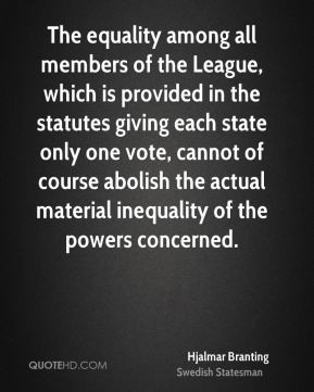 ... vote, cannot of course abolish the actual material inequality of the