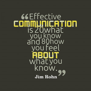 Communication. It's the first thing we really learn in life.