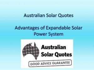 Australian solar quotes advantages of expandable solar power system