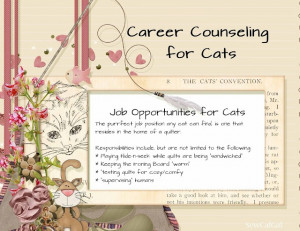 Career Counseling for Cats source: Insights From SewCalGal: Pets on ...