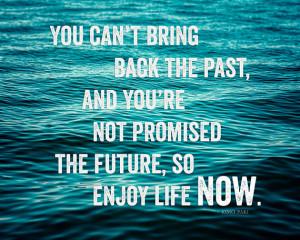 Enjoy Life Motivational Print, Teal Ocean Art, Inspirational Quote ...