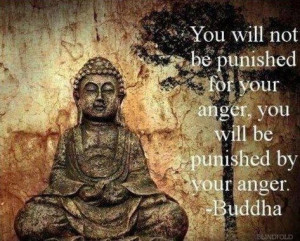 buddha quotes on anger you will not be punished for your anger you ...
