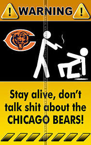 ... FRIDGE-TOOL-BOX-MAGNET-NFL-FOOTBALL-CHICAGO-BEARS-FUNNY-WARNING-SIGNS