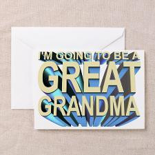 going to be a great grandma Greeting Cards (6) for