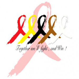 Together We'll Fight, And Win! Cancer Ribbons – T-Shirt