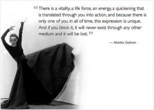 Martha Graham #dance #quote