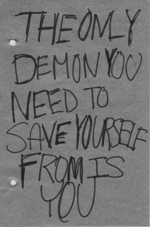 Demon Black and White Quotes