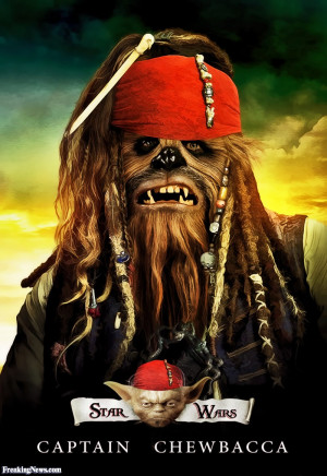 Funny Captain Chewbacca Star Wars Pirate