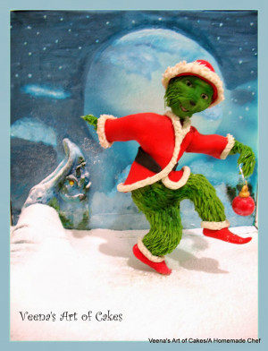 The Grinch A Bake a Christmas wish project