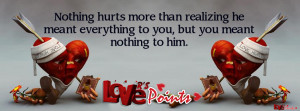 Sad love quote sayings facebook cover