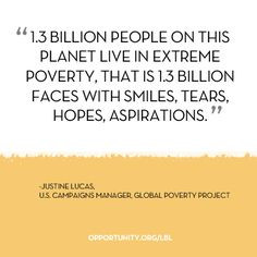 ... Poverty Project shares her motivation to see an end to extreme poverty