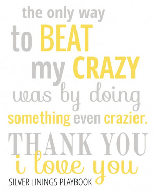 Silver Linings Playbook Quote - Typography Poster - Quote Print ...