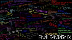 Final Fantasy IX Quote Wall by amarantha-omikami