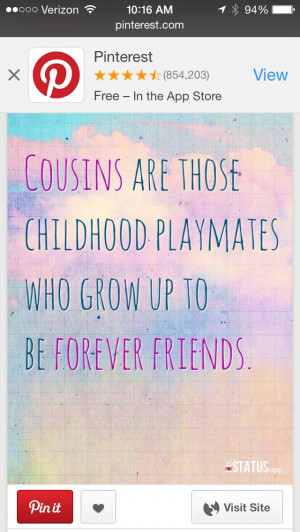 Girl Cousin Quotes