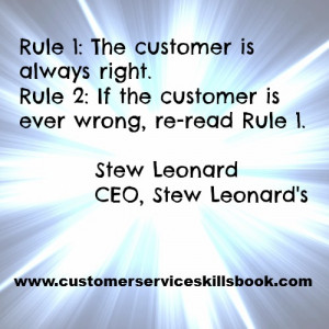 the customer is always right quote stew leonard