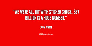 We were all hit with sticker shock: $87 billion is a huge number ...
