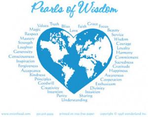 Pearls of Wisdom:Part 1