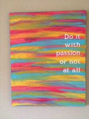 Cute Canvas Painting with Quote