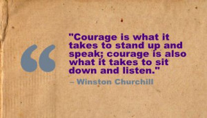 Courage to Speak from your Heart