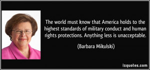 More Barbara Mikulski Quotes