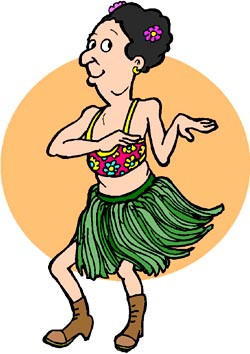 Slogans for Hawaii: funny drawing og female tourist doing a hawaii ...