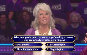 Paula Deen got the above question right