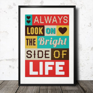 Personalised Inspirational Quote Word Art Poster £19.99