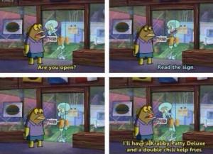 Customers Aren't Always Right At The Krusty Krab On Spongebob ...