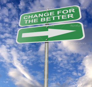 Street Road Sign Change For The Better - Stock Image