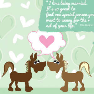 Funny Quotes about love for Valentine's Day two horses in love with ...